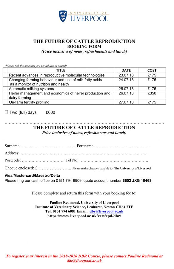 Future Of Cattle Reproduction Booking Form 28.6